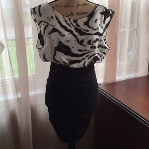 Alice + Oliva Black & White Dress Size XS